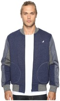 Staple Pieced Loopback Bomber Jacket