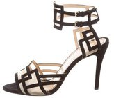 Charlotte Olympia Cutout Suede Sandals