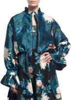 Sachin + Babi Doshi Trumpet-Sleeve Floral-Print Jacket