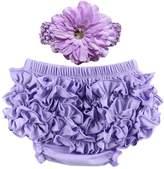 Wennikids Unisex Cotton Ruffled Baby Bloomers Headband Sets 3 Sizes 6 Colors