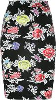 House of Holland rose print pencil skirt - women - Spandex/Elastane/Viscose - 6