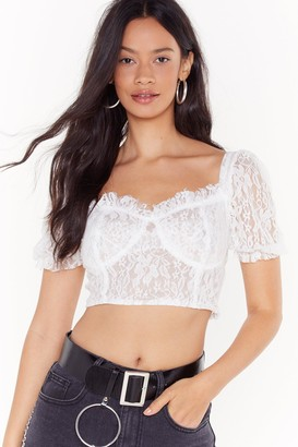 Nasty Gal Womens Love Never Felt Sew Good Broderie Anglaise Crop Top - White - 8