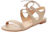 Pour La Victoire Lacey Embossed Leather Sandal