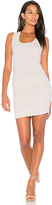 Lanston Ruched Tank Dress in Beige. - size L (also in S,XS)