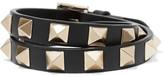 Valentino Rockstud Leather Choker - Black