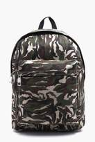 Boohoo Textured Camo Backpack