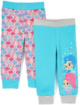 Children's Apparel Network Gray Turquoise & Pink Sweatpants - Toddler