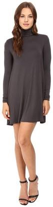 LAmade Women's Trapeze Style Long Sleeve Turtleneck Dress