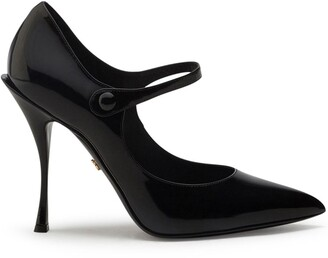 Dolce & Gabbana high-shine Mary Jane pumps