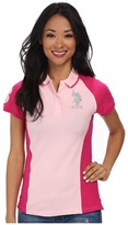 U.S. Polo Assn. Color Block Polo with Silver Lurex Embroidery