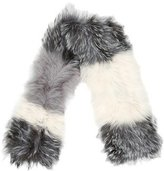 La Fiorentina Knitted Fox Fur Scarf w/ Tags