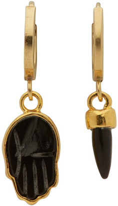 Isabel Marant Gold and Black Hand Earrings