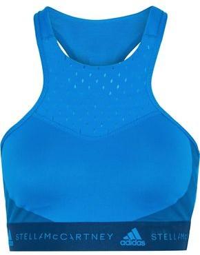 adidas by Stella McCartney Hiit Mesh-paneled Climalite Sports Bra