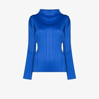 Pleats Please Issey Miyake Basic long sleeve plisse top