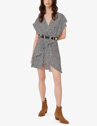 Maje Romela animal-print crepe mini dress