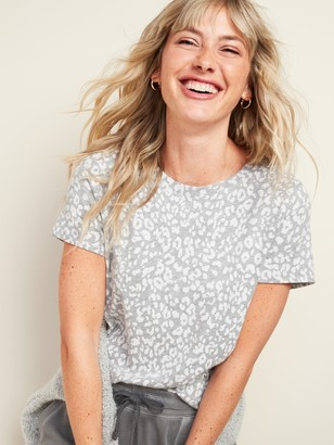 Old Navy EveryWear Patterned Short-Sleeve Tee for Women