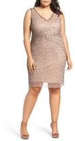 Adrianna Papell Plus Size Women's Beaded Sheath Dress