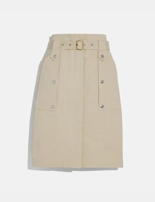 Coach Belted Safari Skirt