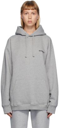 Vetements Grey Logo Hoodie