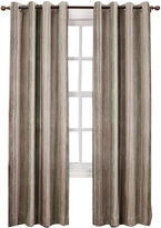 Sun Zero Sun ZeroTM Emory Crushed Printed Stripe Room-Darkening Grommet Curtain Panel