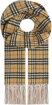 Burberry Reversible Vintage check cashmere scarf