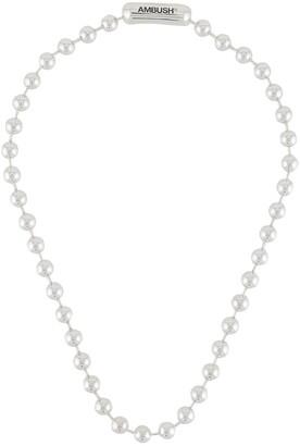 Ambush Logo-Engraved Ball-Chain Necklace