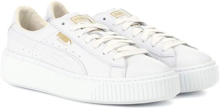 sale retailer 508ba 4109c Basket Platform leather sneakers