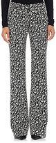 Altuzarra Women's Jacquard Serge Flared Trousers-BLACK