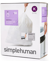 """Simplehuman 50 Pack of 35-45 Liter """"K"""" Custom Fit Trash Can Liners"""