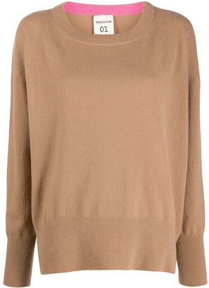 Semi-Couture Scoop-Neck Wool-Blend Jumper