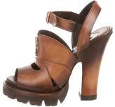 Prada Ombre Platform Sandals