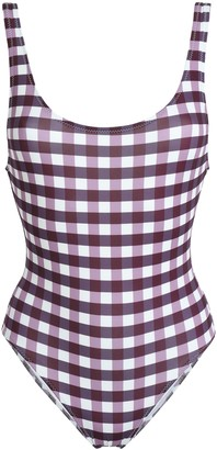 Solid & Striped Gingham Swimsuit