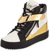 Giuseppe Zanotti May Multicolor V Platform Sneaker, Lindos