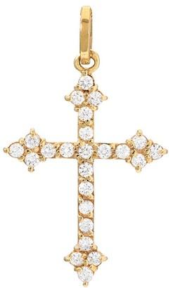 Dru Diamond Gothic Cross Pendant - Yellow Gold