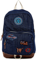 Steve Madden Denim Patchwork Dome Backpack