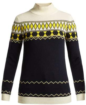 Maison Margiela Fair Isle Intarsia-knit Wool-blend Sweater - Womens - Blue