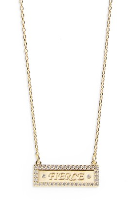 Lulu DK CZ Bar Necklace