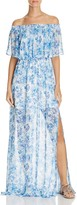 Show Me Your Mumu Hacienda Floral Print Off the Shoulder Dress