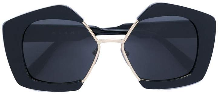 Marni Eyewear geometric frame sunglasses