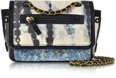 Jerome Dreyfuss Benji Tie & Dye Caviar Leather Mini Crossbody Bag