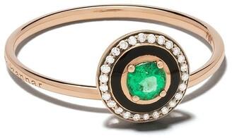Selim Mouzannar 18kt rose gold diamond emerald Mina ring
