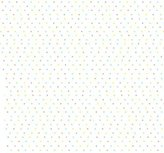 Camilla And Marc SheetWorld Fitted Cradle Sheet - Pastel Colorful Pindots Woven - Made In USA - 18 inches x 36 inches (45.7 cm x 91.4 cm)