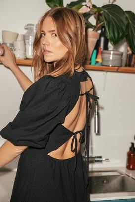Trine Kjaer X NA-KD Back Detail Volume Sleeve Dress