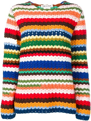 Comme des Garcons Pre-Owned striped jumper