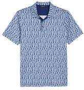 Bugatchi Classic Fit Abstract Brick Layout Polo