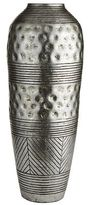 Pier 1 Imports Antiqued Silver Carved Terracotta Floor Vase