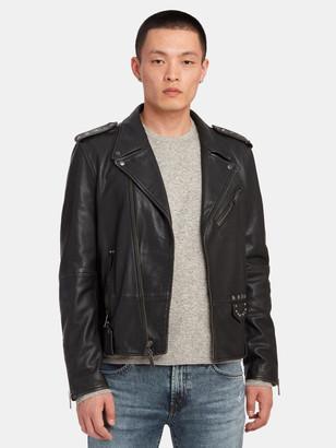 John Varvatos Misfits Leather Biker Jacket