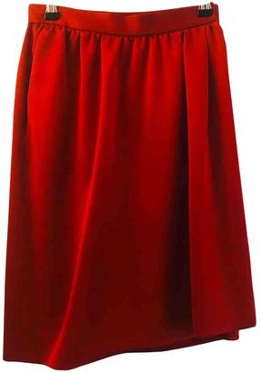 Saint Laurent Red Skirt for Women Vintage