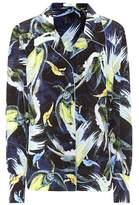 Erdem Fae printed silk-crêpe shirt