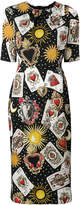 Dolce & Gabbana Playing Cards print dress